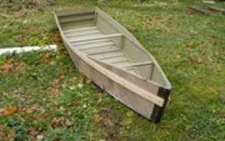 Лодка плоскодонка из фанеры своими руками чертежи