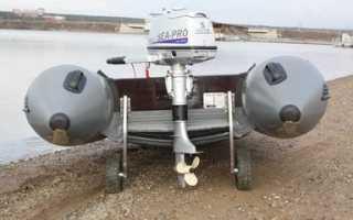 Как установить транцевые колеса на лодку пвх