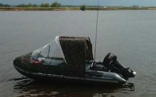 Тент на моторную лодку своими руками
