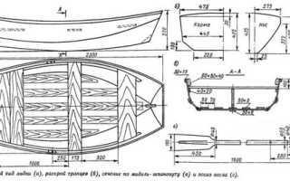 Лодка из фанеры чертежи