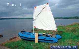 Парус для надувной лодки