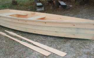 Деревянная лодка своими руками видео