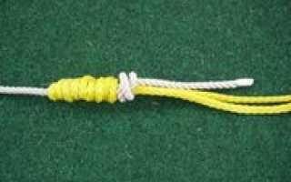 Как привязать поводок к шнуру