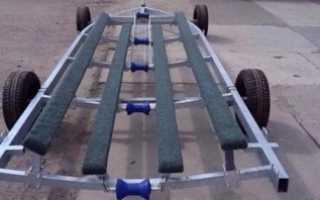 Тележка для перевозки лодки пвх