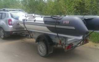 Крепление лодки пвх на прицепе