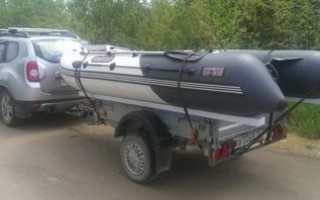 Перевозка лодки пвх на обычном прицепе